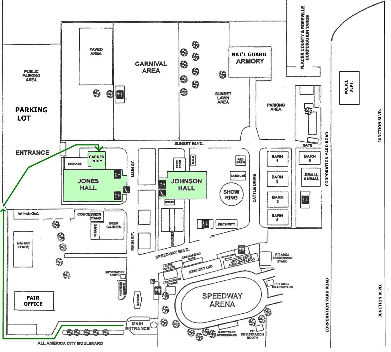 Walk-Around Map for Placer County Fairgrounds